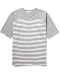 Nonnative - Trainer Striped Cotton-jersey T-shirt - Lyst
