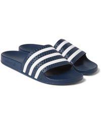 adidas Originals - Adilette Textured-rubber Slides - Lyst