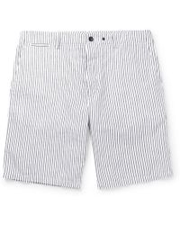 Rag & Bone - Beach Short Ii Striped Cotton And Linen-blend Shorts - Lyst