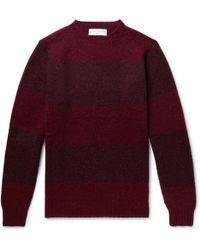 Officine Generale - Striped Shetland Wool Sweater - Lyst