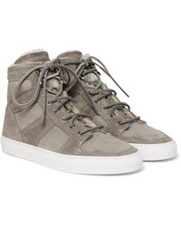 Ralph Lauren Purple Label - Seaham Ii Shearling-lined Suede High-top Sneakers - Lyst