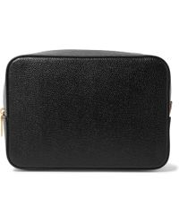 Thom Browne | Pebble-grain Leather Wash Bag | Lyst