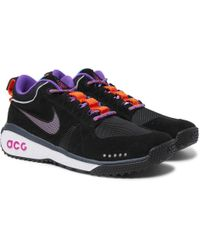Nike - Acg Dog Mountain Suede And Mesh Trainers - Lyst