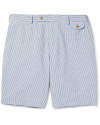 Boglioli - Striped Cotton Bermuda Shorts - Lyst