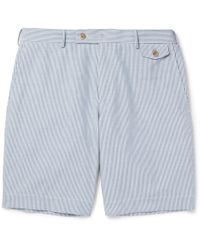 Boglioli - Striped Cotton Bermuda Shorts - Lyst