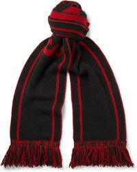 The Elder Statesman - - Nba Bulls Fringed Intarsia Cashmere Scarf - Black - Lyst