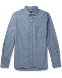 Beams Plus - Button-down Collar Cotton-chambray Shirt - Lyst