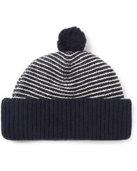 Oliver Spencer - Dock Striped Wool Bobble Hat - Lyst