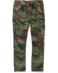 Polo Ralph Lauren - Slim-fit Camouflage-print Cotton-twill Cargo Trousers - Lyst