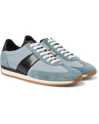 Tom Ford | Orford Leather And Suede-trimmed Nylon Trainers | Lyst