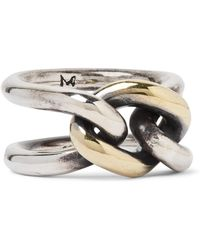 M. Cohen - Chain Link 18-karat Gold And Sterling Silver Ring - Lyst