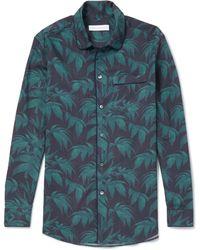 Desmond & Dempsey - Printed Cotton Pyjama Shirt - Lyst