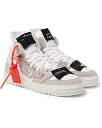 7aa4a053d3c1 Lyst - Off-White c o Virgil Abloh Low 3.0 Leather And Canvas High ...