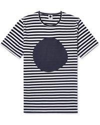 NN07 - Printed Striped Cotton-jersey T-shirt - Lyst