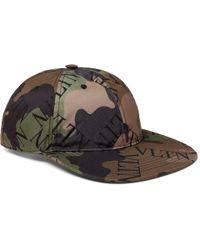 ba62284e Valentino - Garavani Camouflage Logo-print Shell Baseball Cap - Lyst