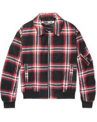 McQ - Quilted Checked Brushed-cotton Blouson Jacket - Lyst