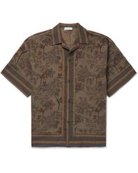 Etro - Camp-collar Printed Linen And Cotton-blend Shirt - Lyst