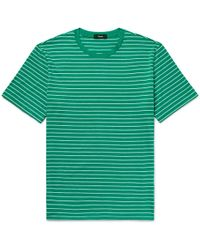 Theory - Clean Slim-fit Striped Pima Cotton-jersey T-shirt - Lyst
