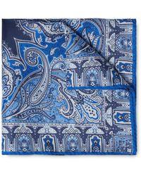 Etro - Paisley-print Silk Pocket Square - Lyst