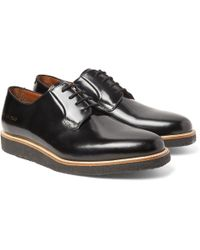 Common Projects - Polished-leather Derby Shoes - Lyst