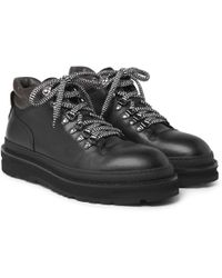 Dunhill - All Terrain Leather Hiking Boots - Lyst