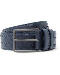 Bottega Veneta - 3cm Navy Intrecciato Leather Belt - Lyst