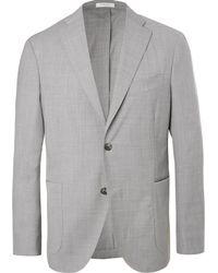 Boglioli - Light-grey Unstructured Mélange Virgin Wool Suit Jacket - Lyst