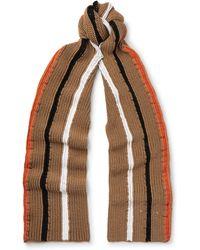 Maison Margiela - Striped Wool Scarf - Lyst