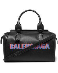 Balenciaga - Monday Logo Print Leather Holdall - Lyst
