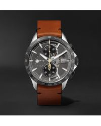 Baume & Mercier - Clifton Club Indian Legend Tribute Scout Chronograph 44mm Stainless Steel And Leather Watch - Lyst