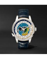 Montblanc - Heritage Spirit Orbis Terrarum Latin Unicef 41mm Stainless Steel And Alligator Watch - Lyst