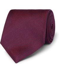 Ermenegildo Zegna - 8cm Silk-jacquard Tie - Lyst