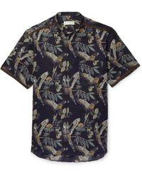 Etro - Parrot Print Cotton Blend Shirt - Lyst