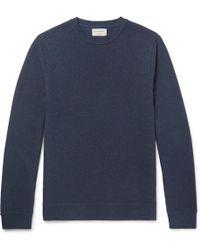 Oliver Spencer - Textured-cotton Sweatshirt - Lyst