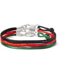 Rubinacci - Set Of Three Silk Bracelets - Lyst