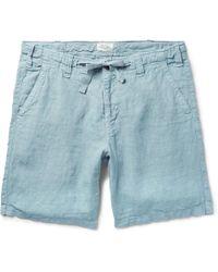 Hartford - Slim-fit Linen Drawstring Shorts - Lyst