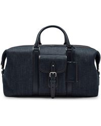 Mulberry - Heritage Weekender In Blue Denim And Smooth Calf - Lyst