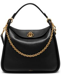 c0a472d575 Mulberry - Leighton In Black Small Classic Grain - Lyst