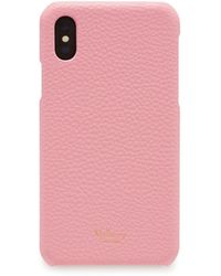Mulberry - Iphone X/xs Cover In Sorbet Pink Small Classic Grain - Lyst