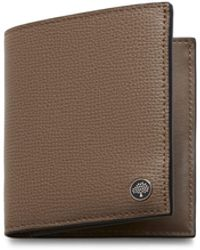 Mulberry - Trifold Wallet With Tree Plaque In Clay Cross Grain Leather - Lyst