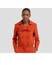 Mulberry - Sophia Jacket In Red Ochre Polyester Pique - Lyst