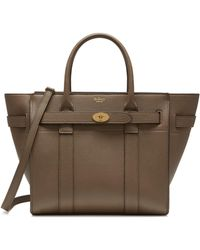 Mulberry - Small Zipped Bayswater In Clay - Lyst