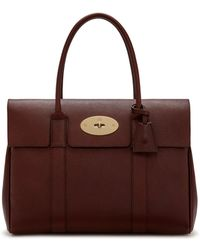 Mulberry - Heritage Bayswater In Oxblood Natural Grain Leather - Lyst