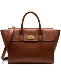 Mulberry - Bayswater With Strap In Oak Natural Grain Leather - Lyst