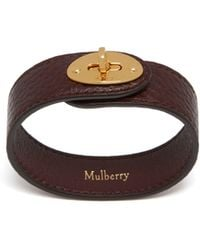Mulberry - Bayswater Leather Bracelet In Oxblood - Lyst