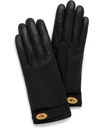 Mulberry - Darley Gloves In Black Smooth Nappa - Lyst