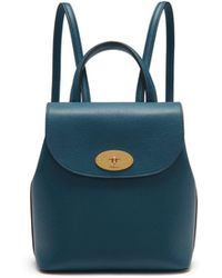 Mulberry - Mini Bayswater Backpack In Deep Sea Small Classic Grain - Lyst