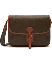 Mulberry - Small Heritage Messenger In Mole And Cognac Scotchgrain - Lyst