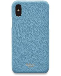 Mulberry - Iphone X/xs Cover In Pale Slate Small Classic Grain - Lyst