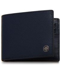 Mulberry - 6 Card Wallet Tree In Bright Navy Cross Grain Leather - Lyst